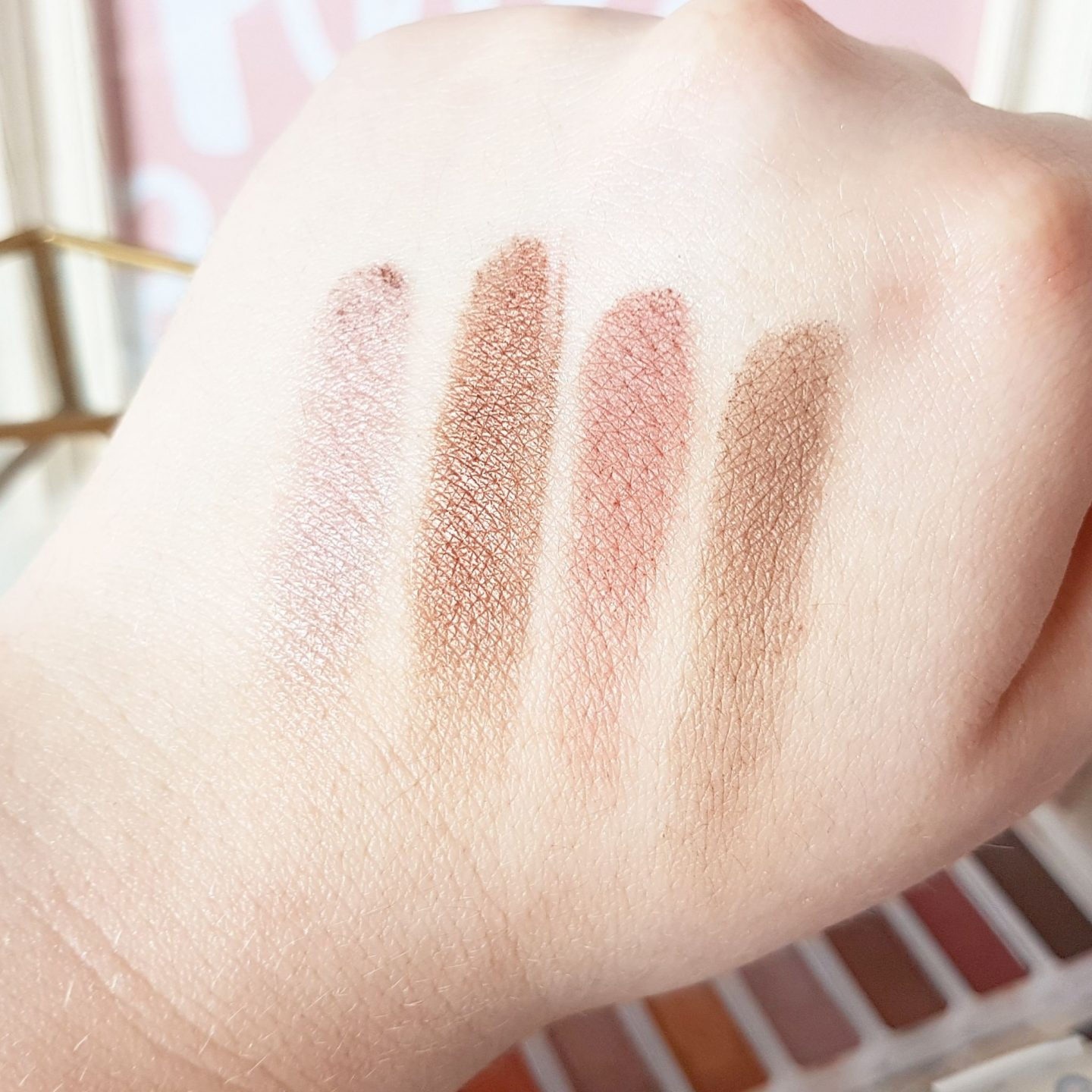 Lottie London Shadow Swatch Palette | The Rusts Collection
