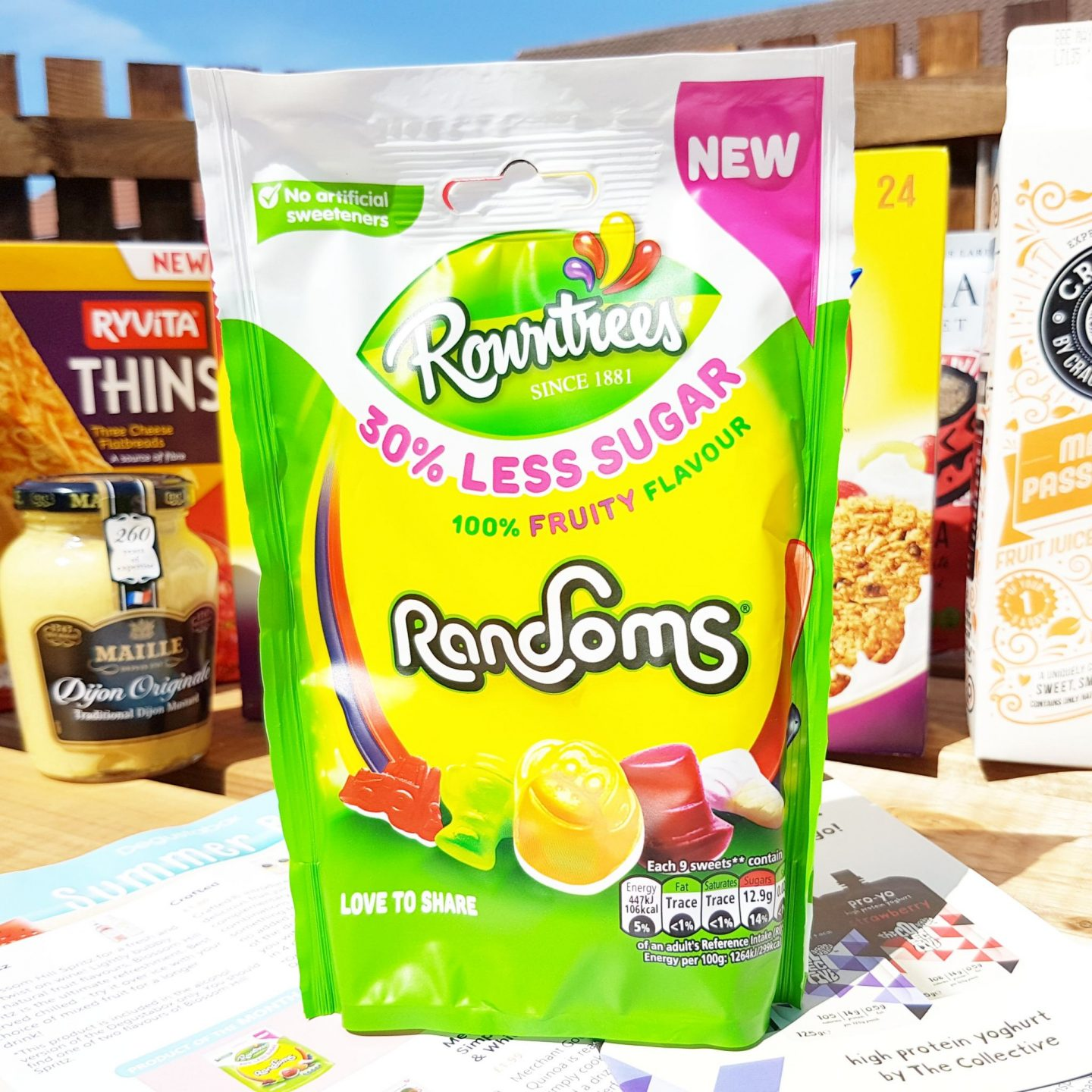 Degustabox | Rowntree's Randoms with 30% less sugar.