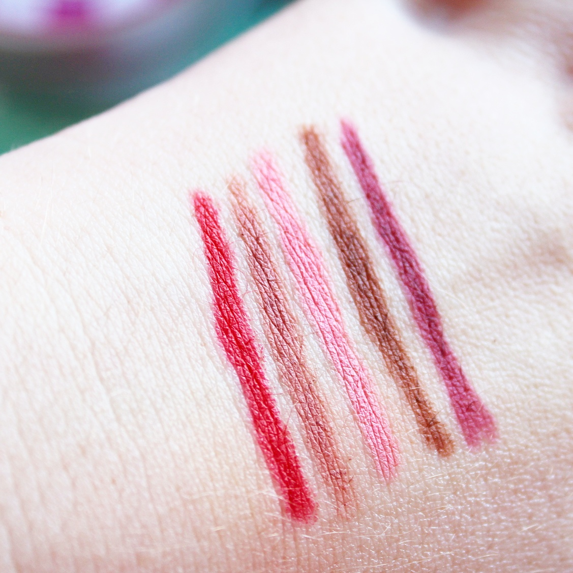 Primark PS... Lip Liner Pencils Swatches