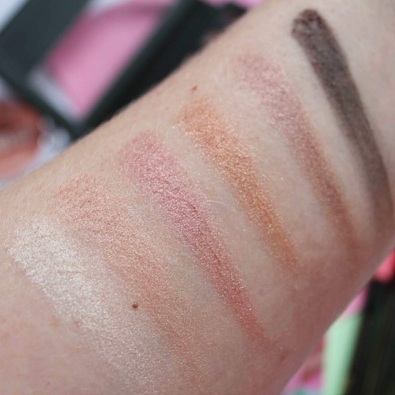Collection Eyes Uncovered Palette in Nude Rose Swatches