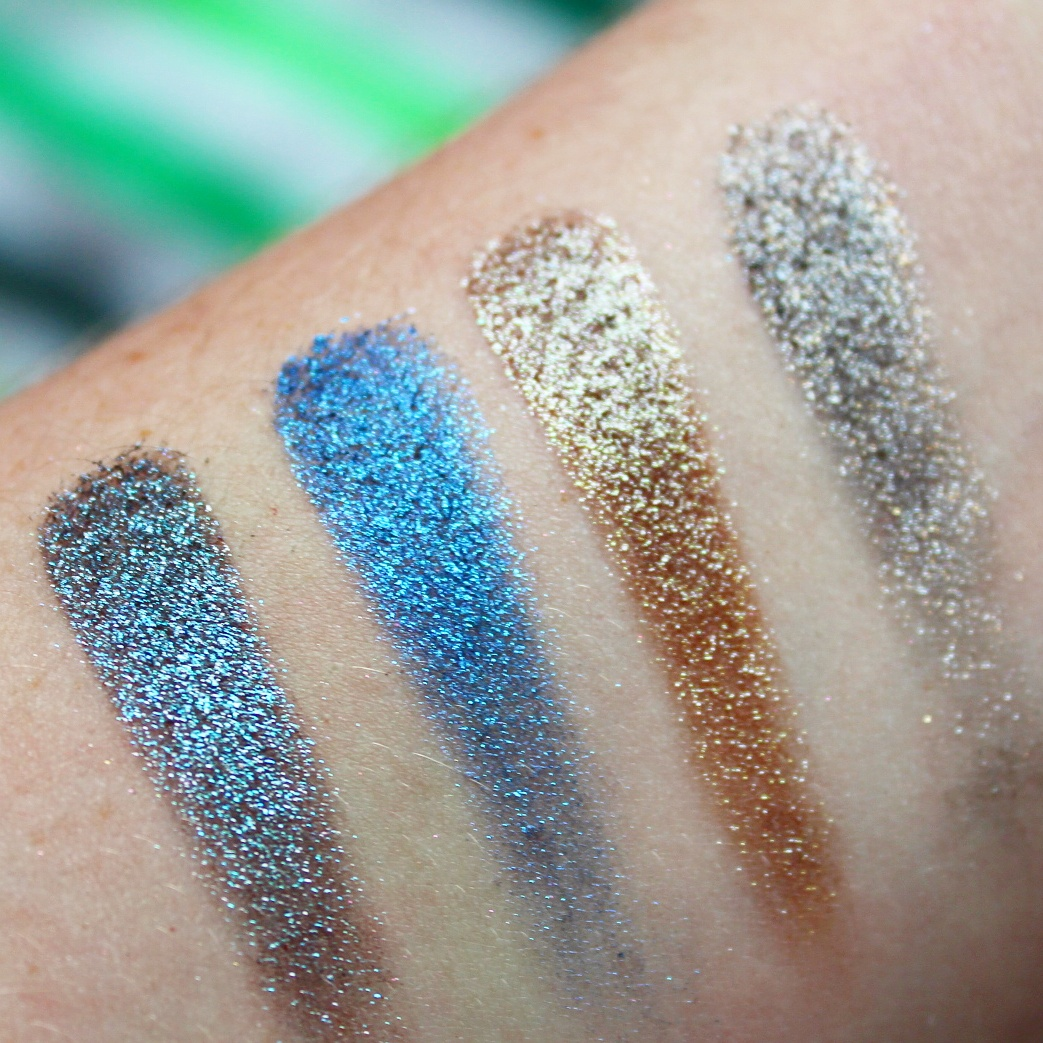 Urban Decay Moondust Glitter Eyeshadow Palette Swatches