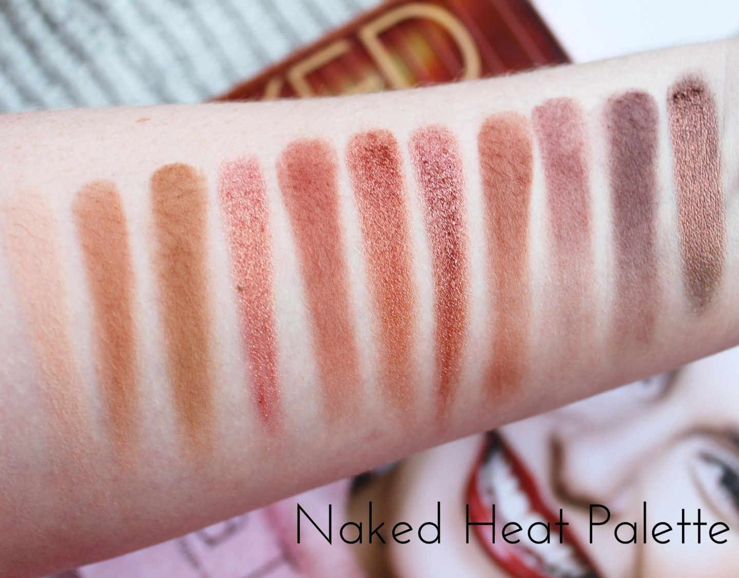 Urban Decay Naked Eyeshadow Palette Collection Swatched - Heat