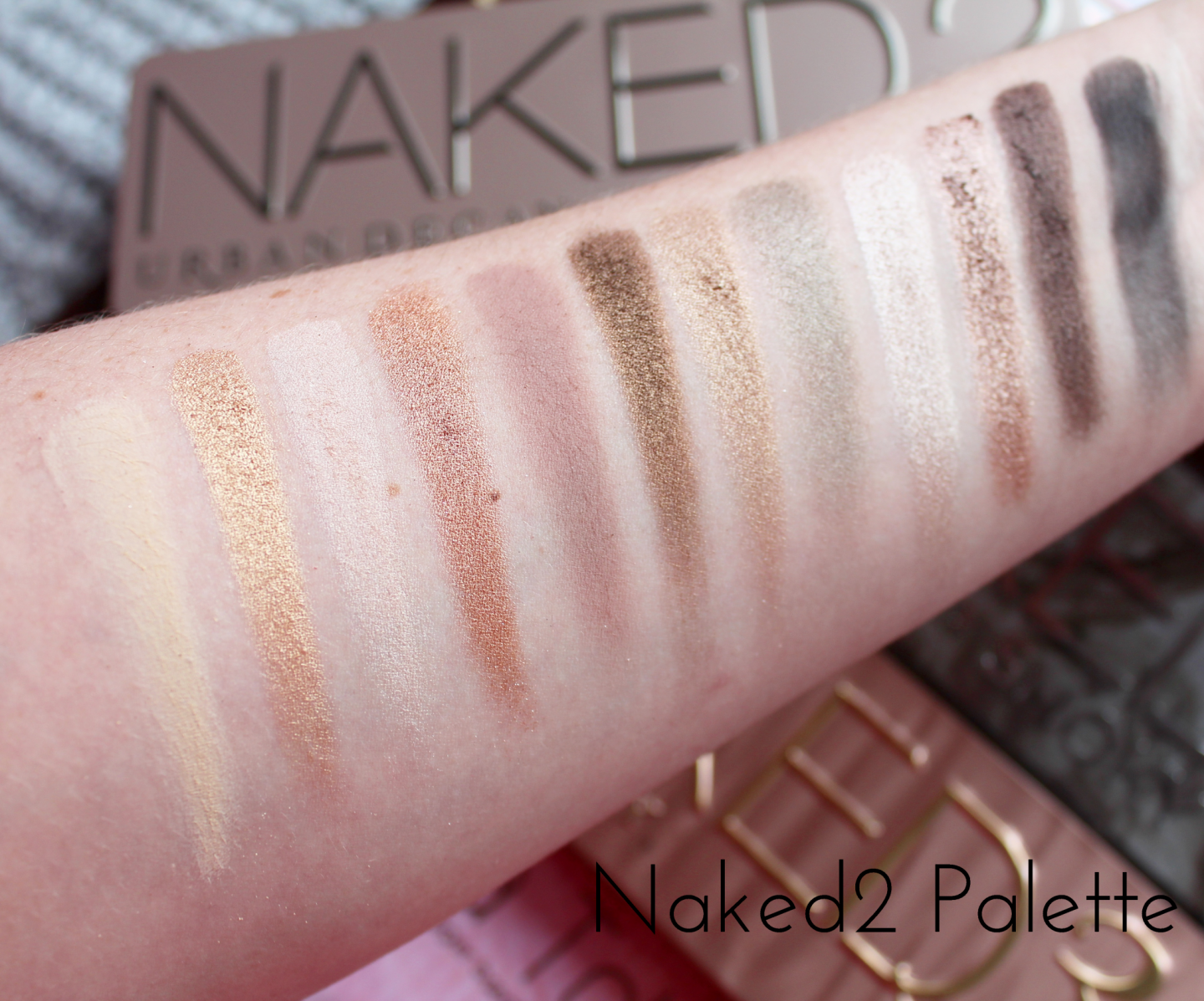 Urban Decay Naked Eyeshadow Palette Collection Swatched - Naked2
