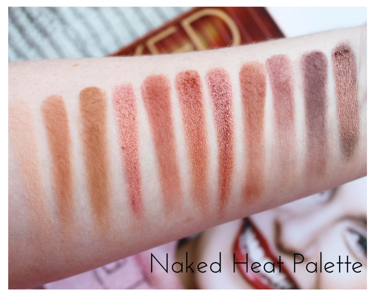 Urban Decay Naked Heat Eyeshadow Palette Swatched