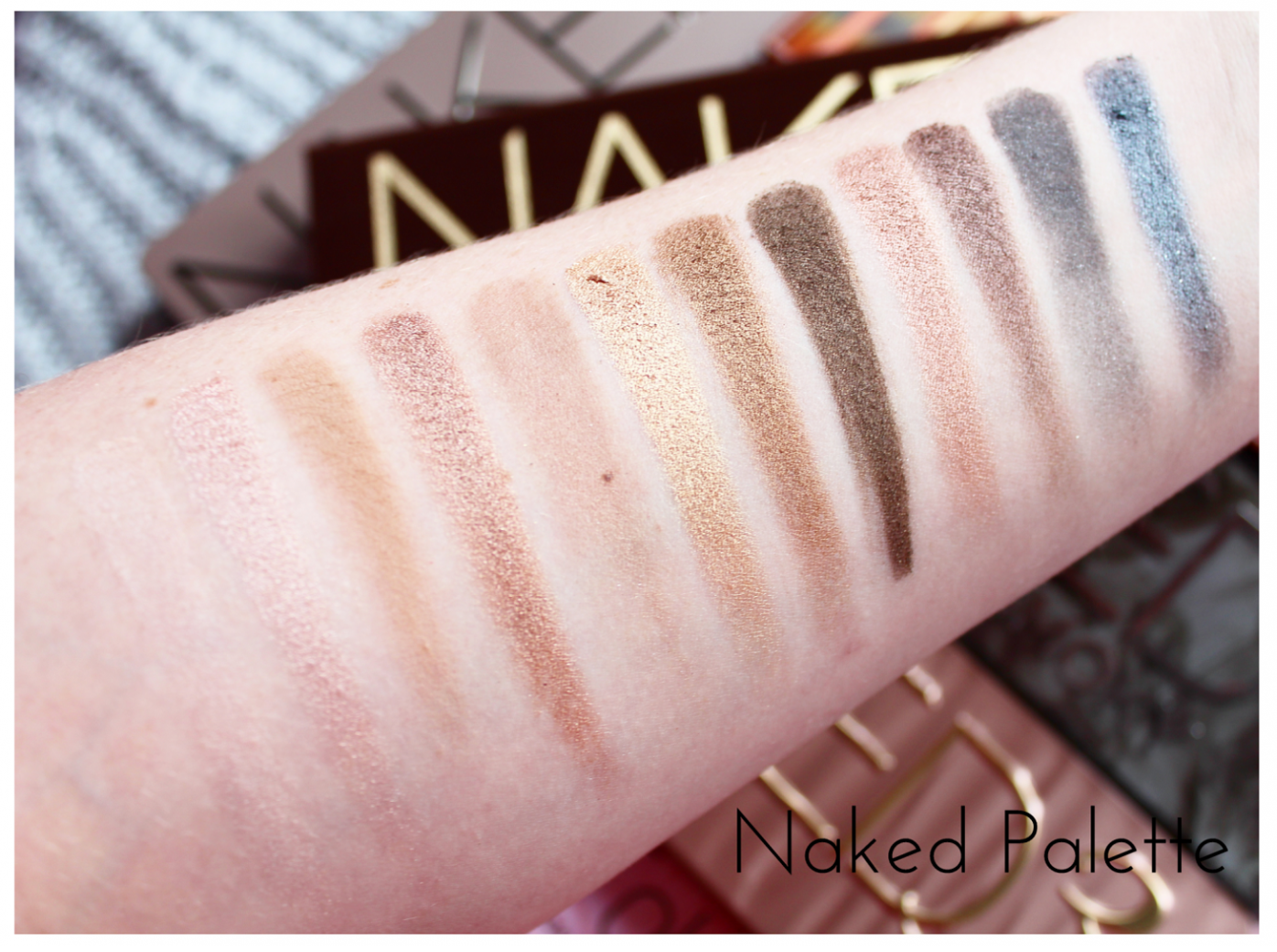 Urban Decay Naked Eyeshadow Palette Swatched