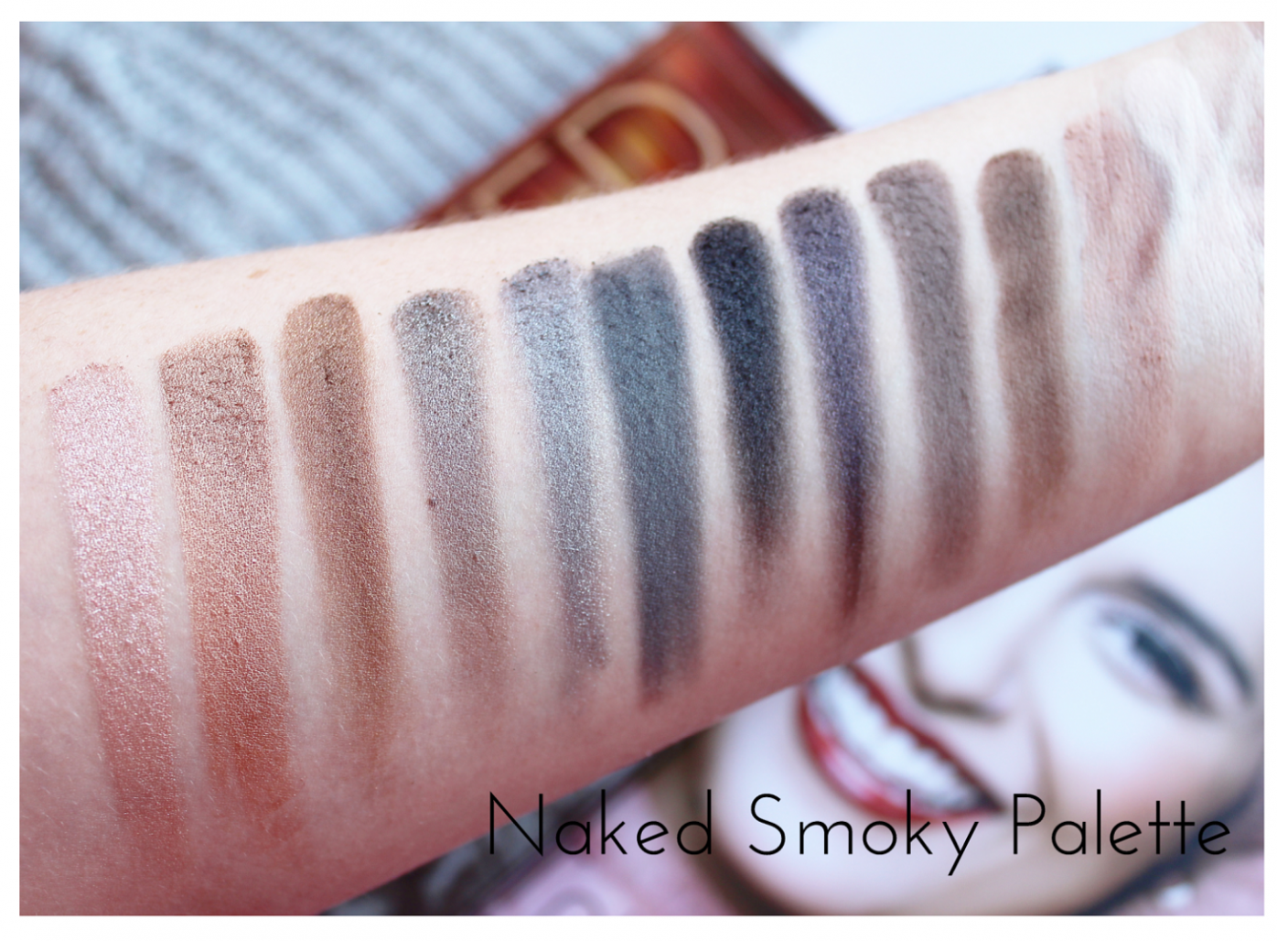 Urban Decay Naked Smoky Eyeshadow Palette Swatched
