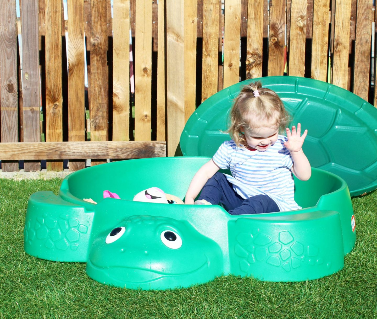 Get Outdoors this Summer with Little Tikes | Turtle Sandbox