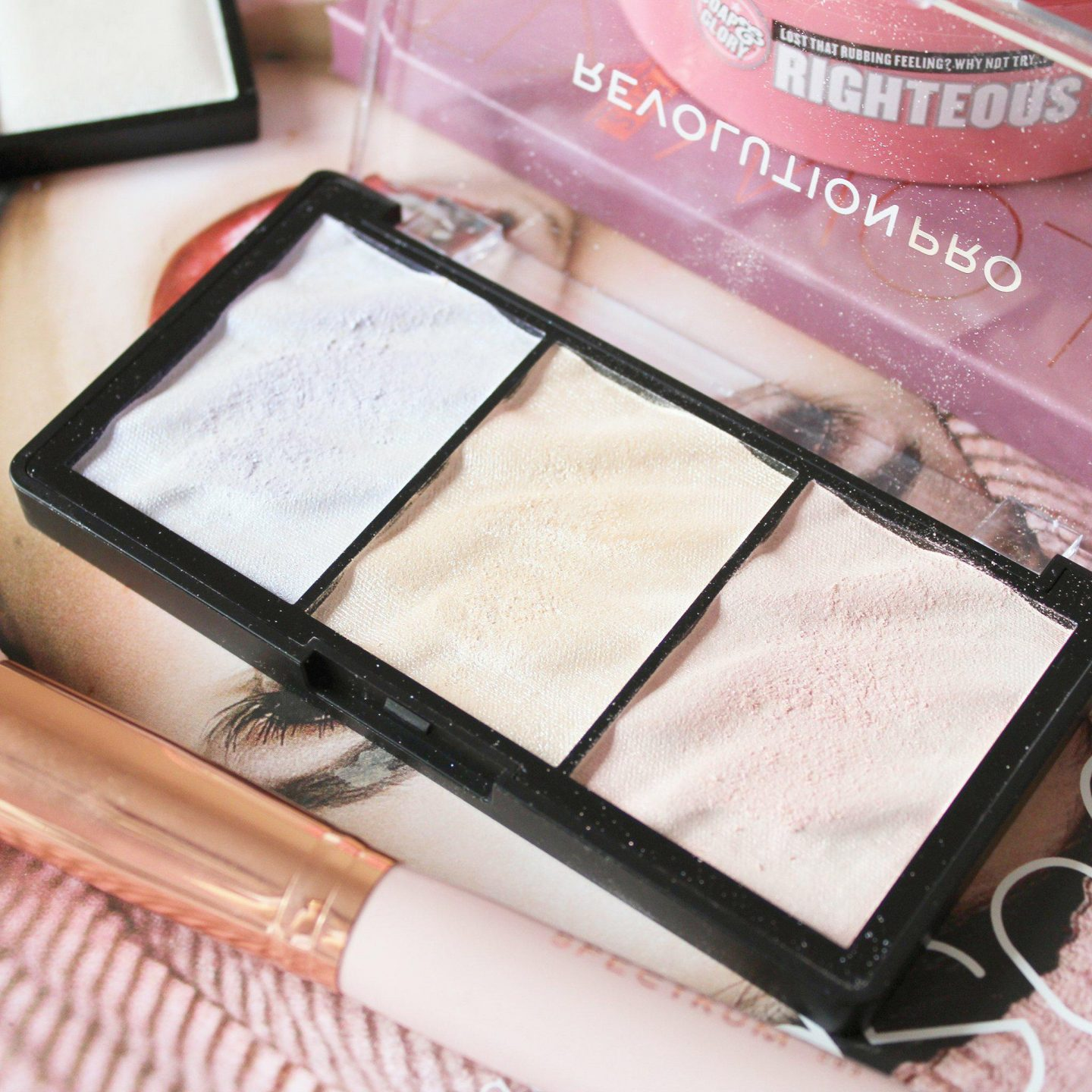 Revolution Pro Supreme Highlight Palette in Ice | Swatches & Review
