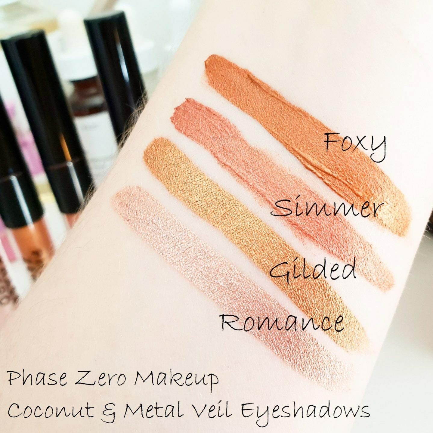 Phase Zero Makeup | Coconut & Metal Veil Liquid Eyeshadows