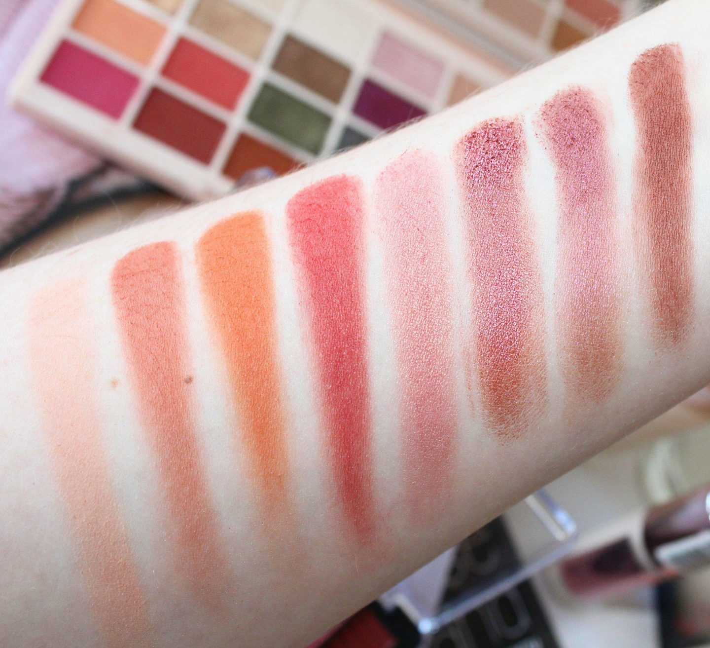 Revolution Pro Supreme Eyeshadow Palette in Intoxicate - Swatches