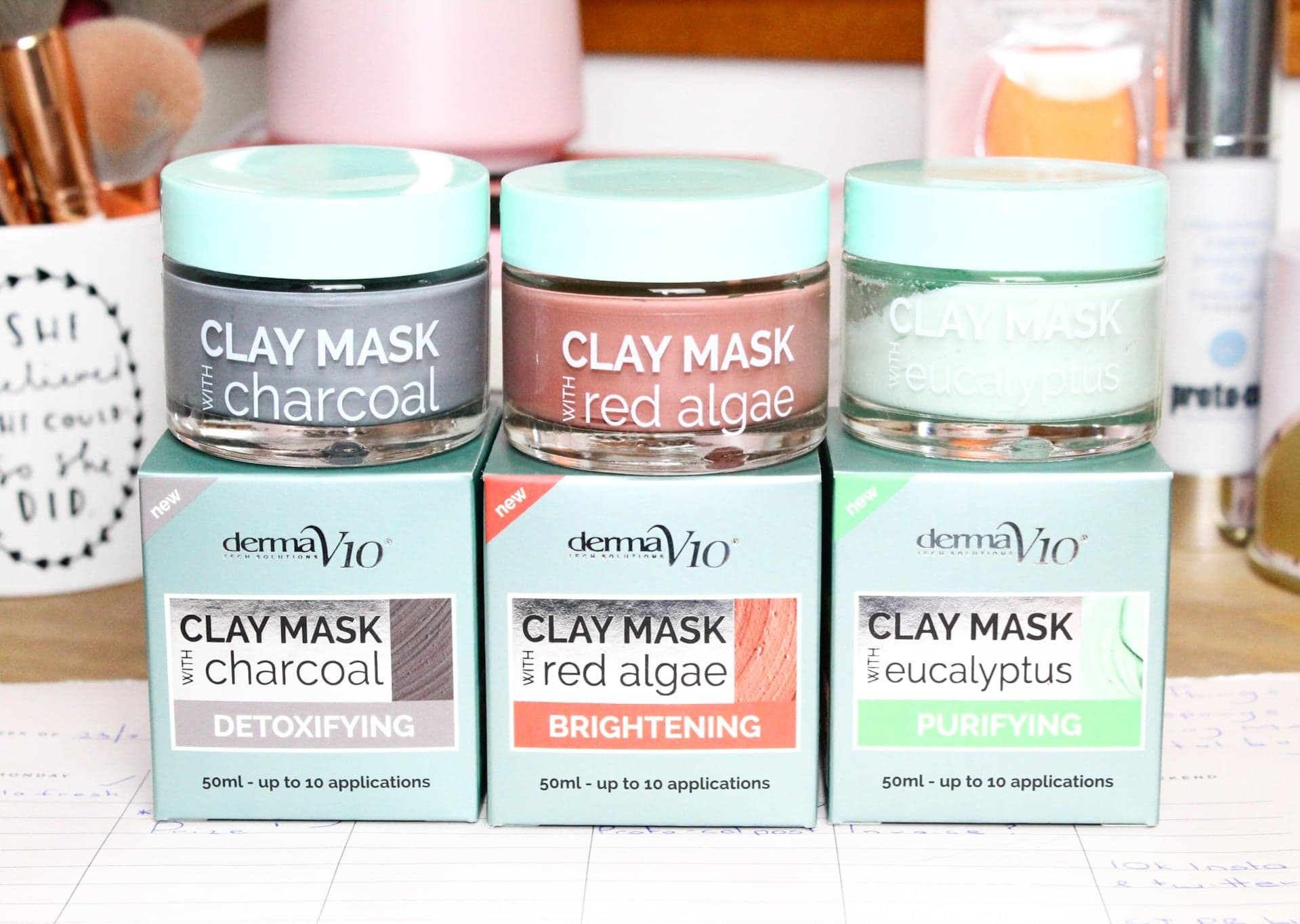 Derma V10 Clay Mask Collection | A Face Mask for Only £1.99?!