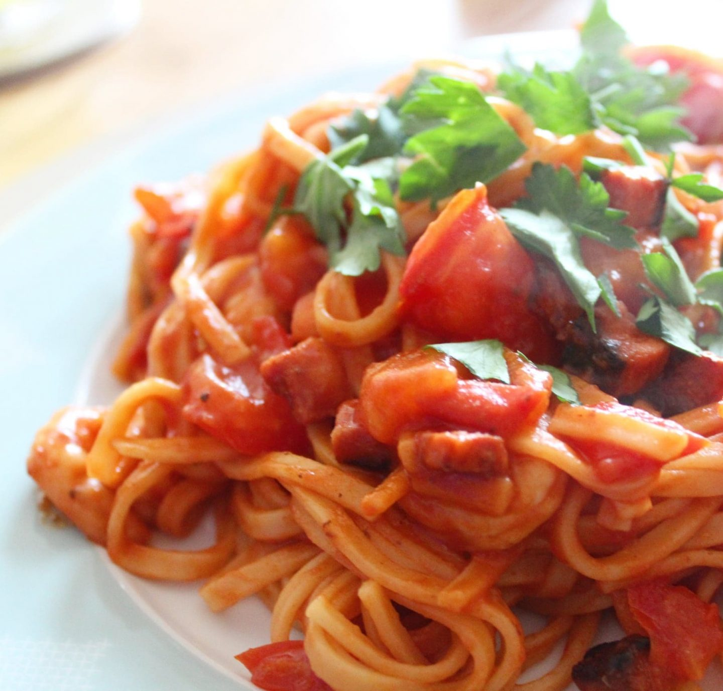 HelloFresh | Prawn & Chorizo Spaghetti with Fresh Vine Tomatoes