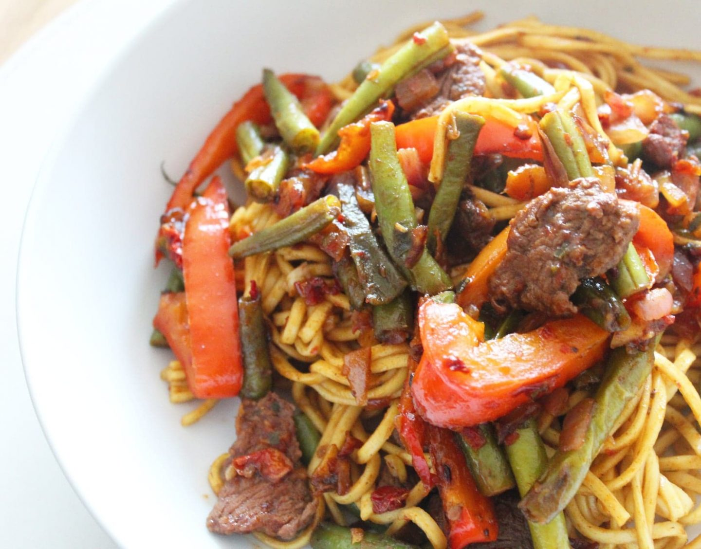 HelloFresh Sweet & Sour Beef with Egg Noodles