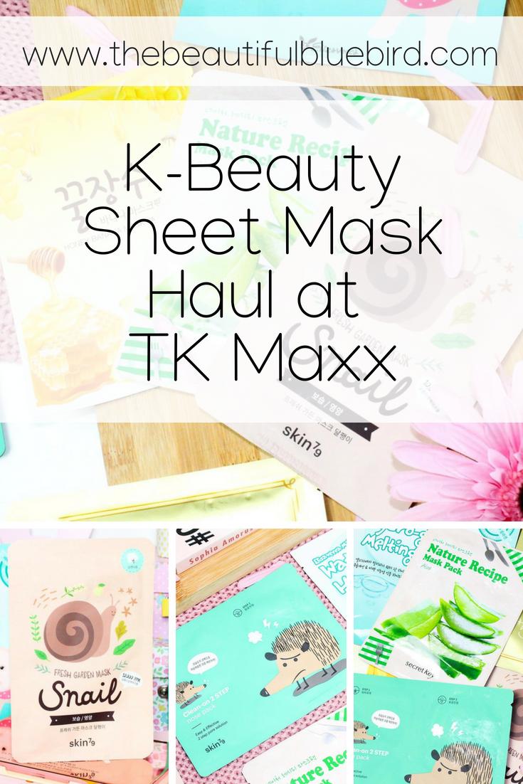 K-Beauty Sheet Mask Haul at TK Maxx
