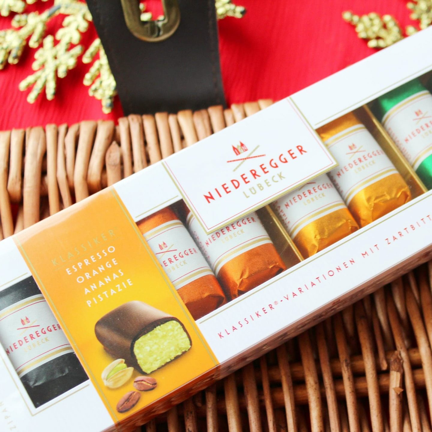 Niederegger Marzipan Christmas Hamper from Chocolates Direct