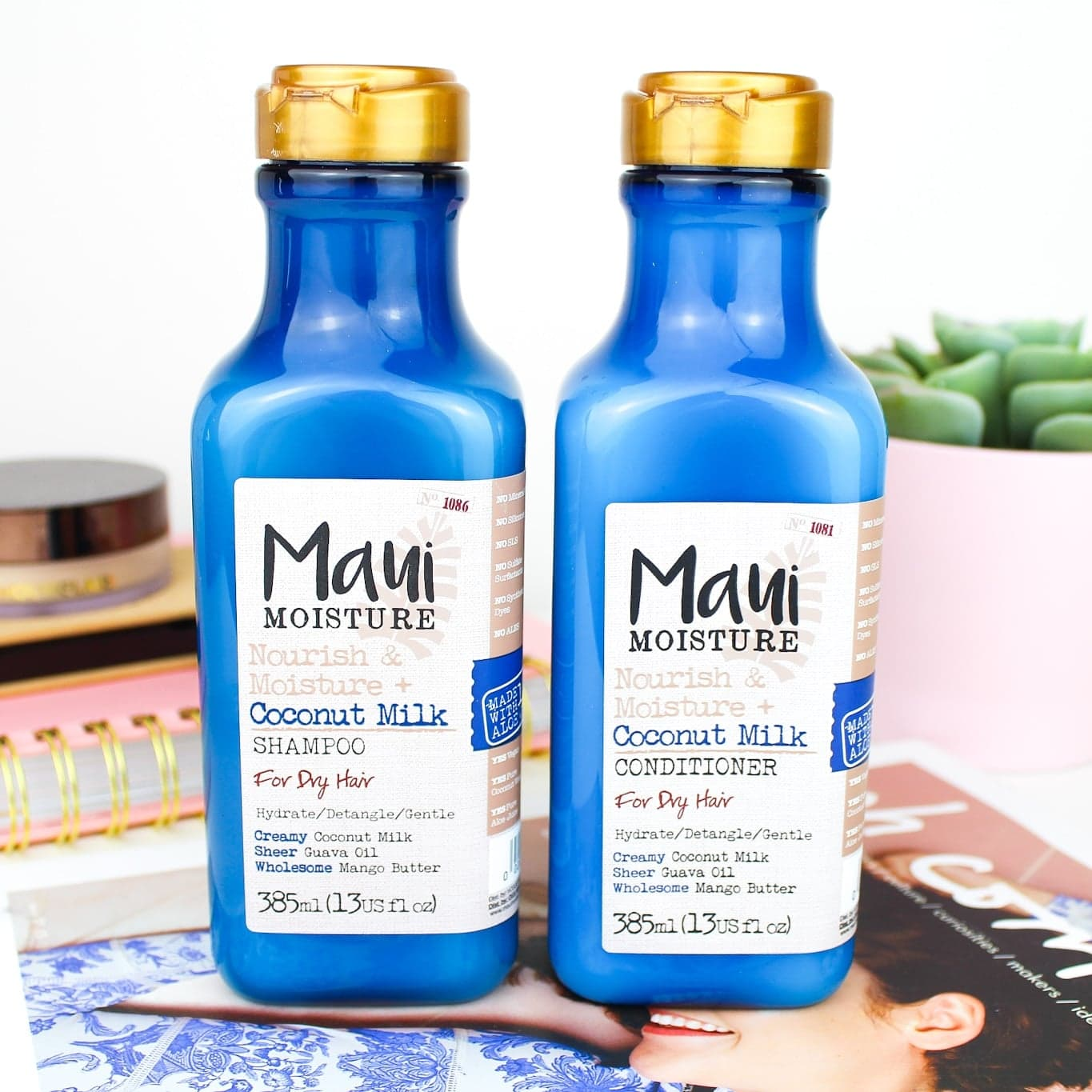 Maui Nouish & Moisture Coconut Milk Shampoo & Conditioner For Dry Hair