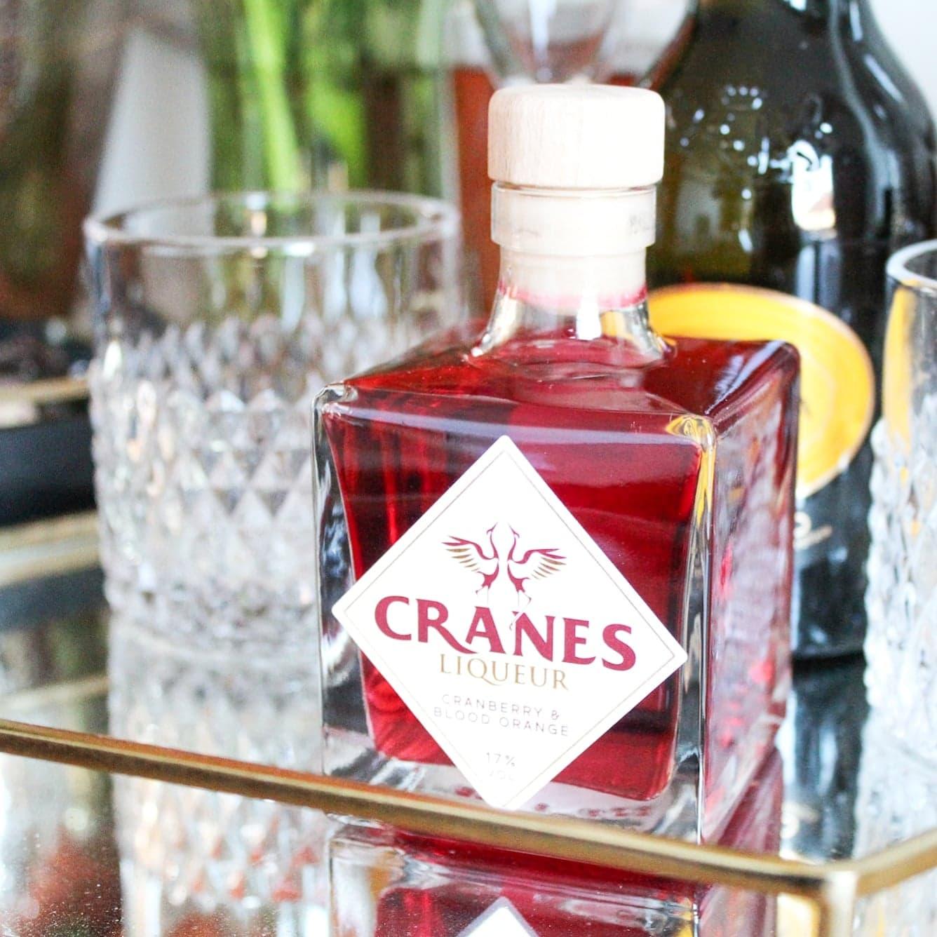 Valentine's Day Cocktails | Cranes Cranberry & Blood Orange Liqueur