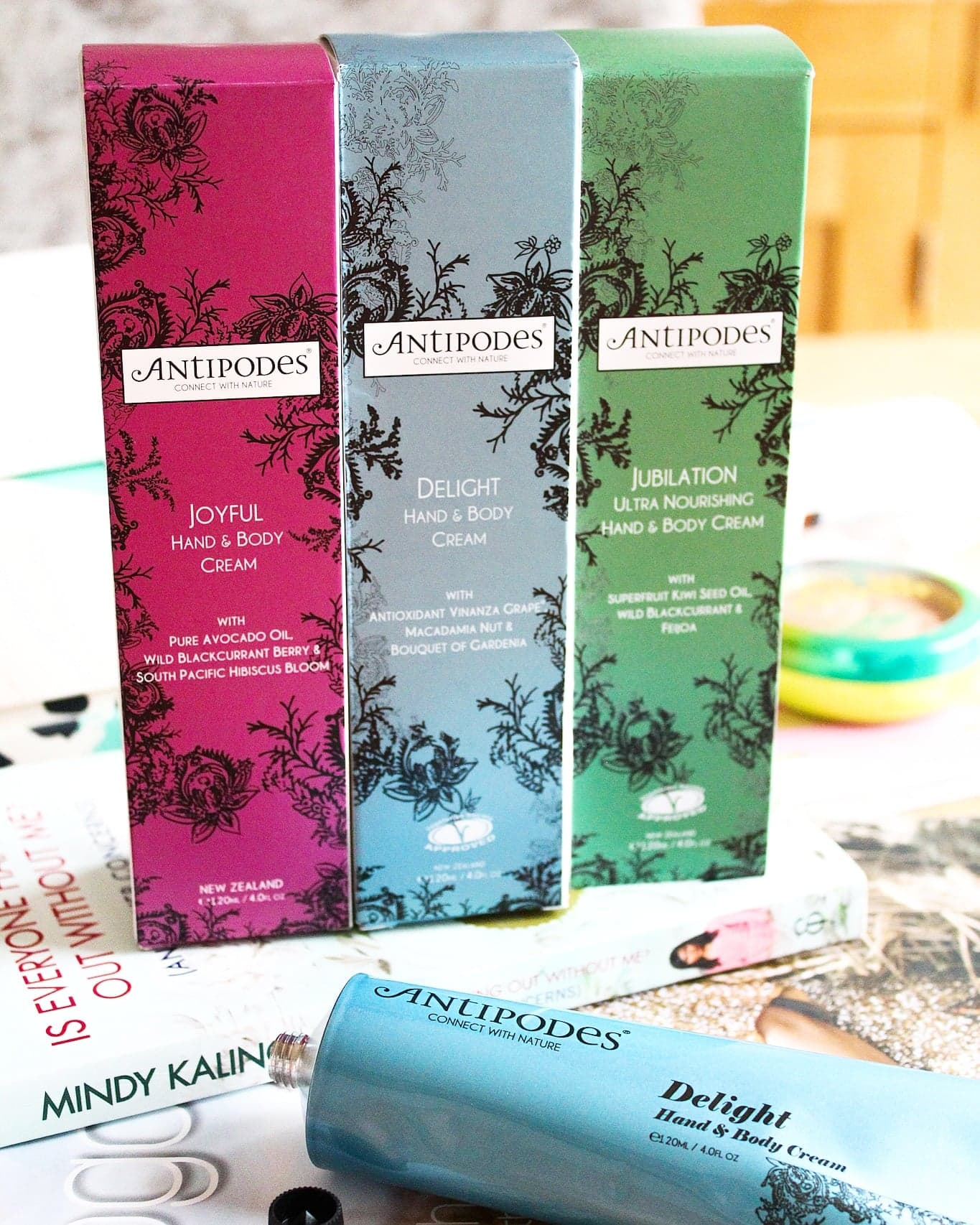 Antipodes Jubilation, Delight & Joyful Hand and Body Creams