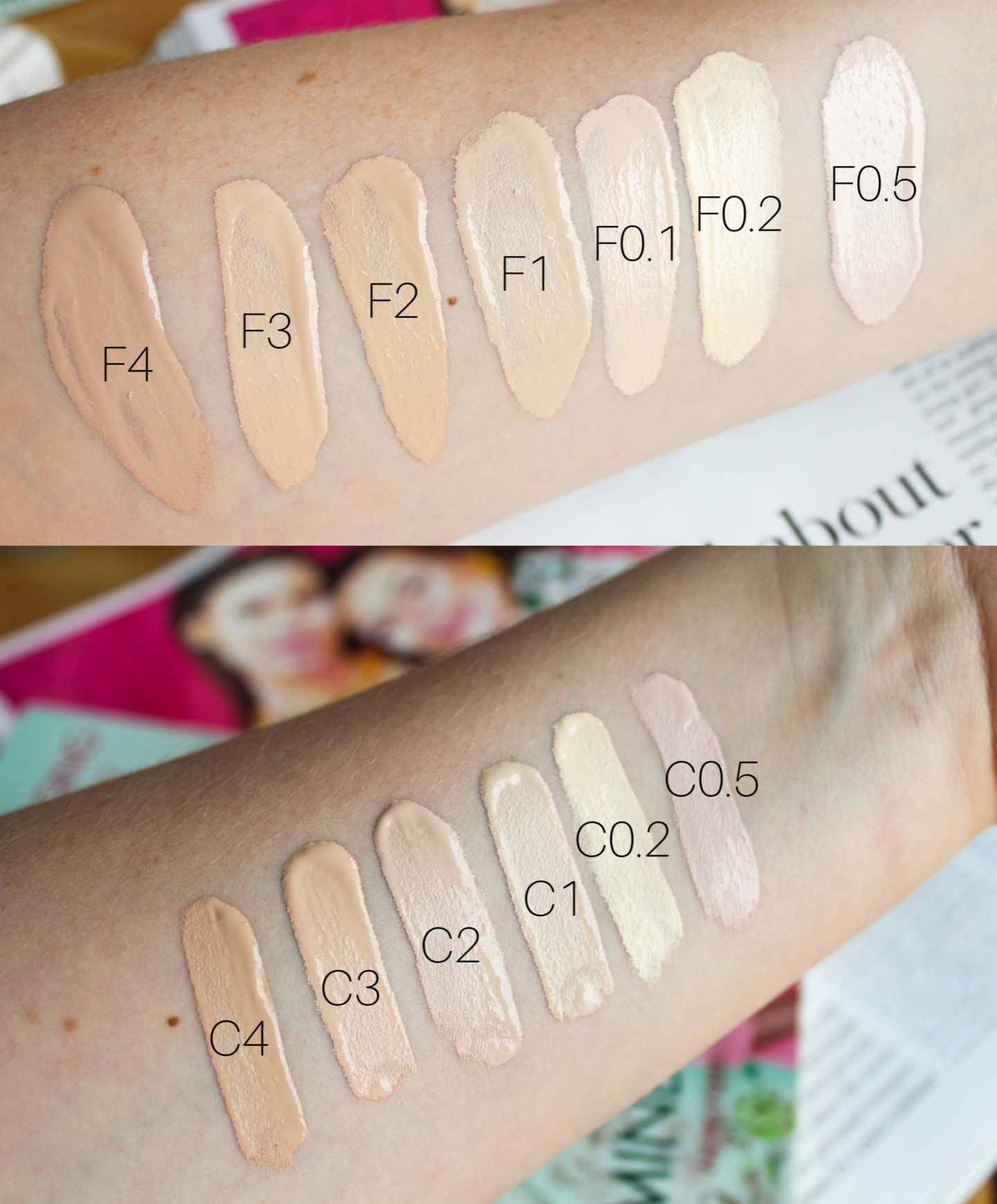 Revolution Conceal & Hydrate Foundation And Concealer Swatches